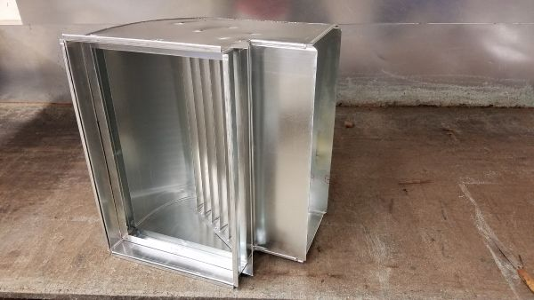 Return Air Filter 90 with Turning Vanes